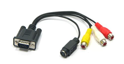 Sử dụng cáp chuyển từ VGA sang S-Video là lựa chọn cuối cùng khi TV và máy tính của bạn không chịu hợp tác. Ảnh: Slashgear.