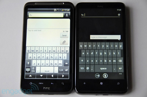 HTC HD7 vs. Desire HD