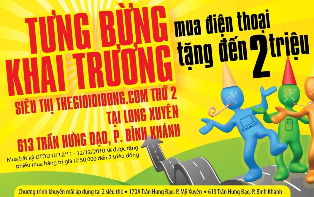 Thegioididong khai trương siêu thị mới tại Cai Lậy & Long Xuyên