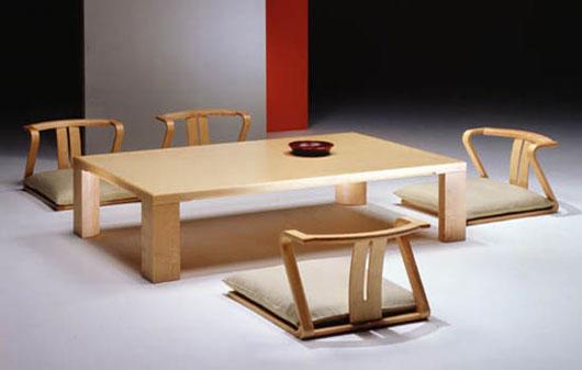 Bàn ăn phong cách Nhật Bản