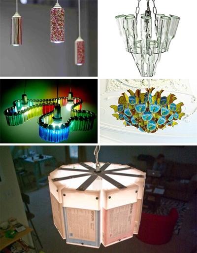 Đèn trang trí từ vật liệu phế thải